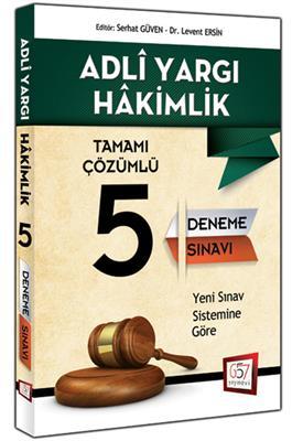 Adli Yargı Hakimliği Tamamı Çözümlü 5 Deneme Sınavı 657 Yayınları