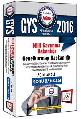 657 Yayınları 2016 GYS Milli Savunma Bakanlığı Açıklamalı Soru Bankası