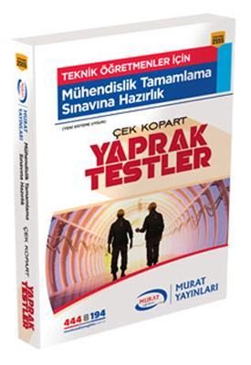 Mühendislik Tamamlama Çek Kopart Yaprak Test Murat Yayınları