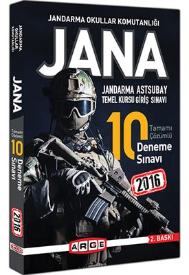 Arge Yayınları JANA Tamamı Çözümlü 10 Deneme Sınavı