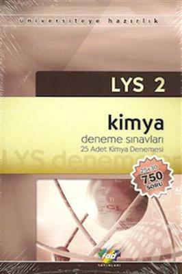 LYS 2 - Kimya Denemeleri 25 Adet Deneme FDD Yayınları