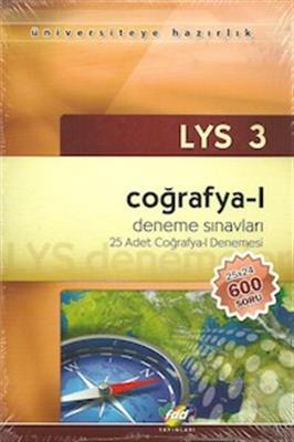 LYS 3 - Coğrafya - 1 Denemeleri 25 Adet Deneme FDD Yayınları