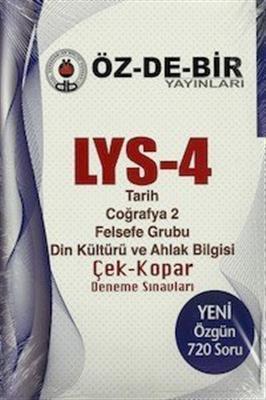 LYS 4 - Çek Kopar Deneme Sınavları Özdebir Yayınları