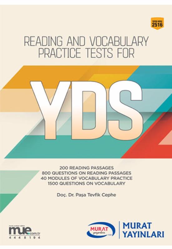YDS Reading and Vocabulary Practice Tests for  Murat Yayınları
