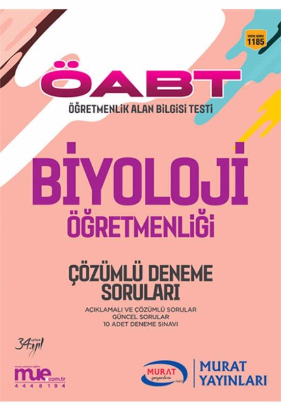 2017 ÖABT Biyoloji Çözümlü 10 Deneme Soruları Murat Yayınları