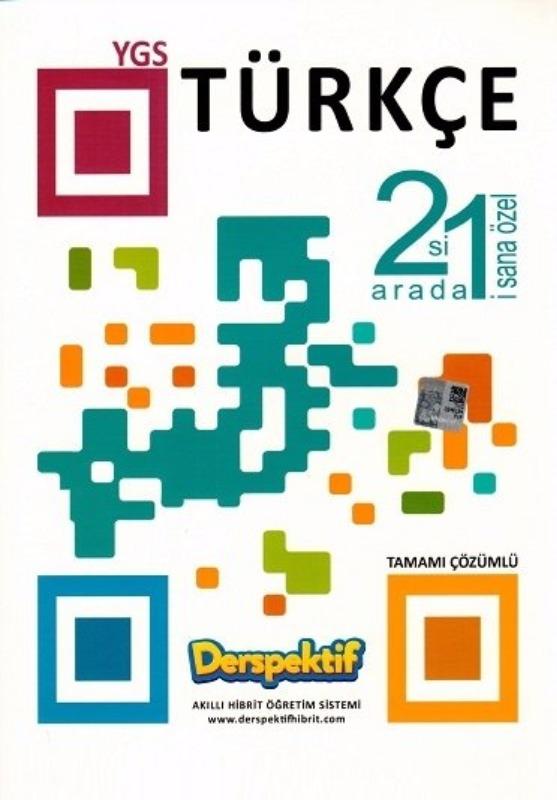 YGS Türkçe 2 si 1 Arada Tamamı Çözümlü Soru Bankası Derspektif Yayınları
