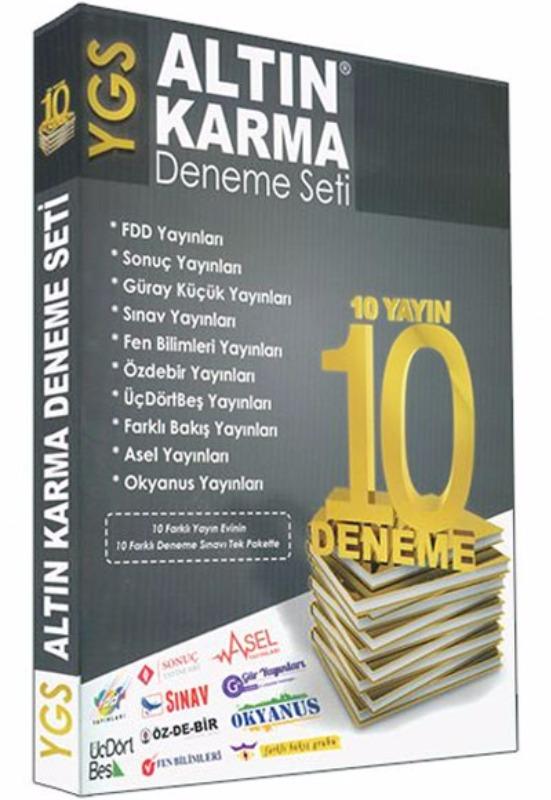 YGS Altın Karma Deneme Seti 10 Farklı Yayın 10 Deneme