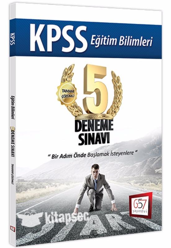 657 Yayınları 2017 KPSS Eğitim Bilimleri Tamamı Çözümlü 5 Deneme