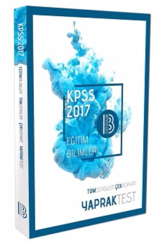 Benim Hocam Yayınları 2017 KPSS Eğitim Bilimleri Tüm Ders Yaprak Test