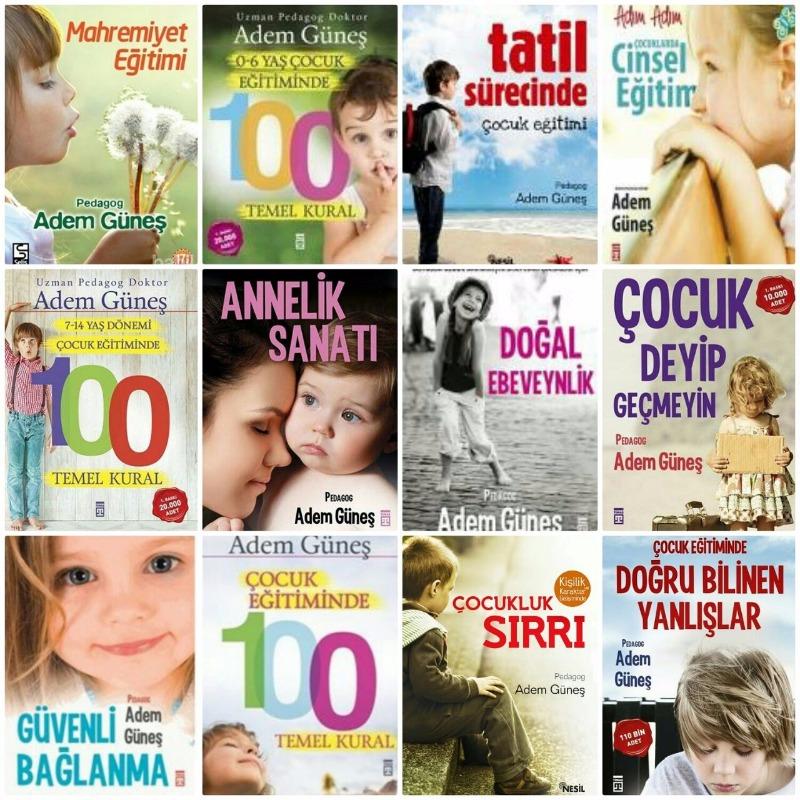 Uzman Pedagog Adem Güneş ten muhteşem 12 kitap set