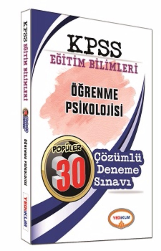 Yediiklim  2017 KPSS Eğitim  Öğrenme Psikolojisi Çözümlü 30 Deneme Sınavı