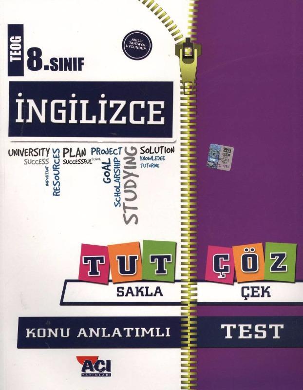 8.Sınıf İngilizce Konu Anlatımlı Test Açı Yayınları