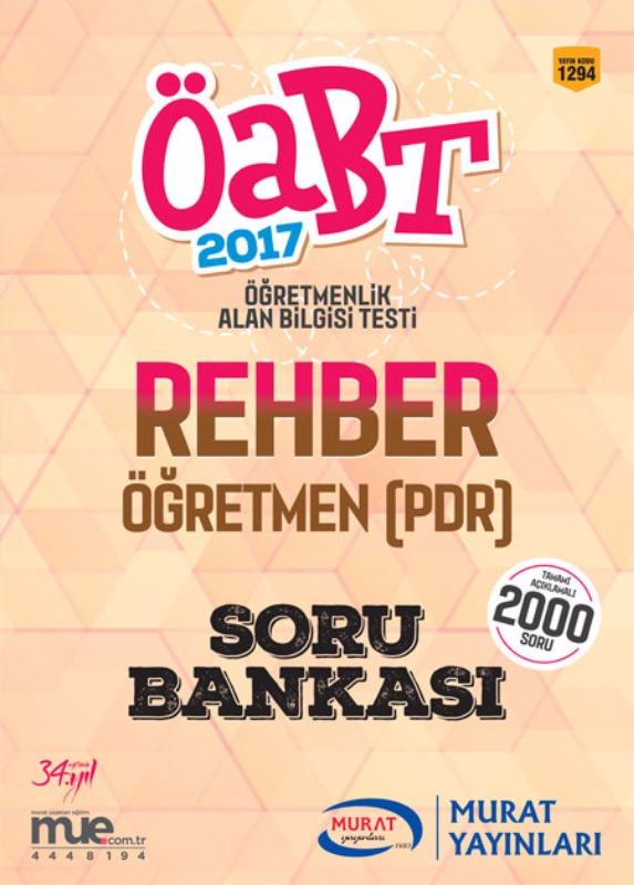 ÖABT Rehber Öğretmen PDR Soru Bankası 2017 Murat Yayınları