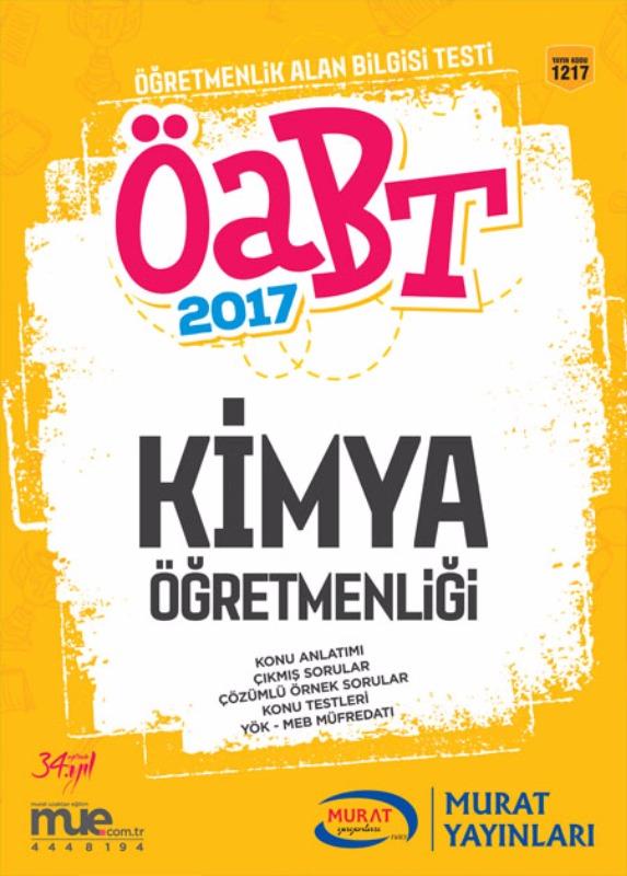 ÖABT Kimya Konu Anlatımlı 2017 Murat Yayınarı