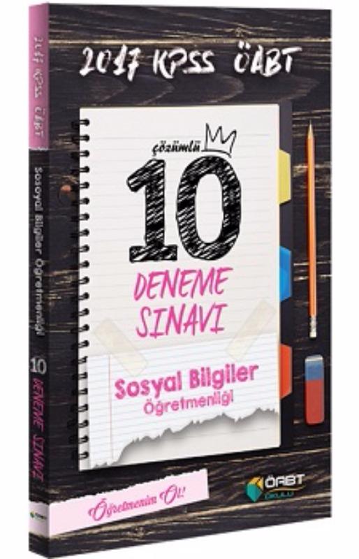Öabt Yayınları 2017 ÖABT Sosyal Bilgiler  Çözümlü 10 Deneme Sınavı