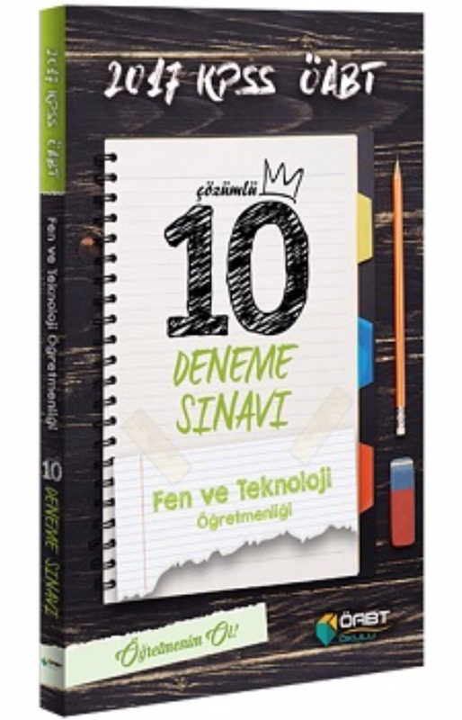 Öabt Yayınları  ÖABT Fen ve Teknoloji Öğretmenliği Çözümlü 10 Deneme Sınavı