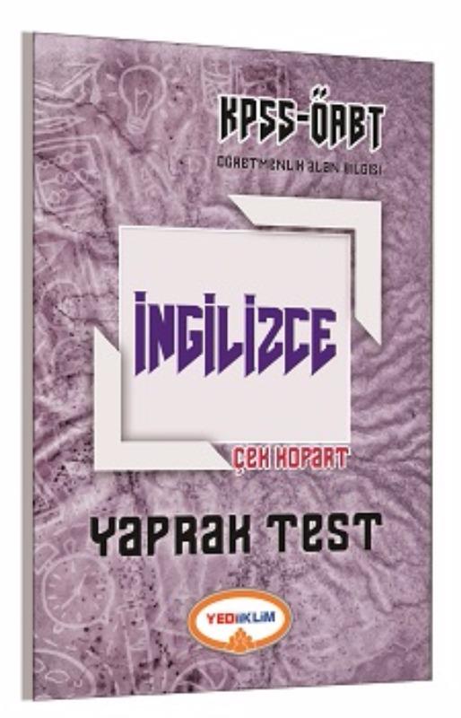 Yediiklim Yayınları 2017 ÖABT İngilizce Çek Kopart Yaprak Test