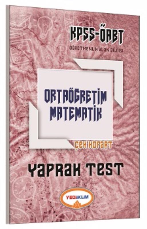 Yediiklim Yayınları 2017 ÖABT Ortaöğretim Matematik  Çek Kopart Yaprak Test