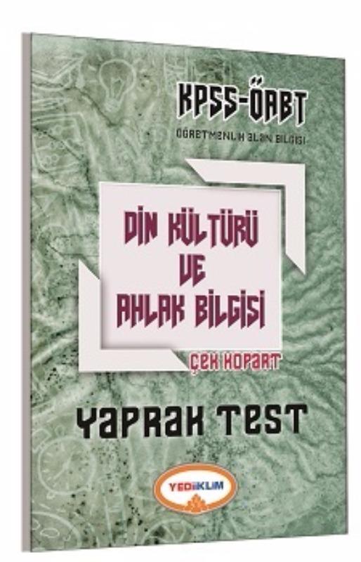 Yediiklim Yayınları 2017 ÖABT Din Kültürü Ve Ahlak Bilgisi  Çek Kopart Yaprak Test
