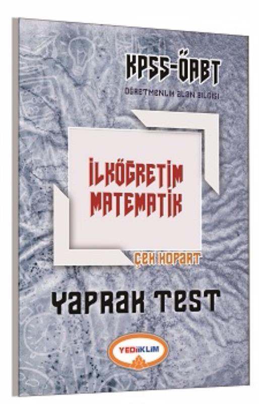 Yediiklim Yayınları 2017 ÖABT İlköğretim Matematik Çek Kopart Yaprak Test