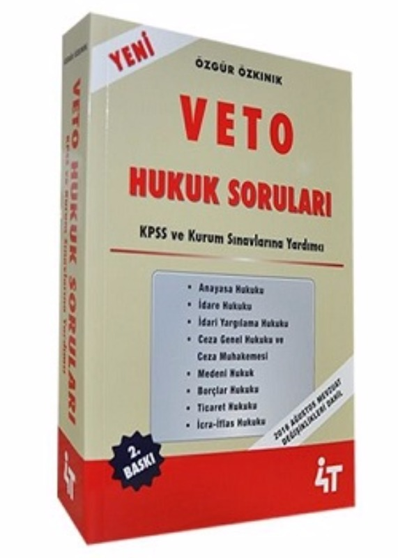 KPSS VETO Hukuk Soruları 4T Yayınları