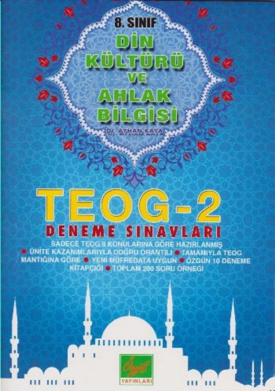 Özgül 8. Sınıf TEOG 2 Din Kültürü ve Ahlak Bilgisi Deneme Sınavı