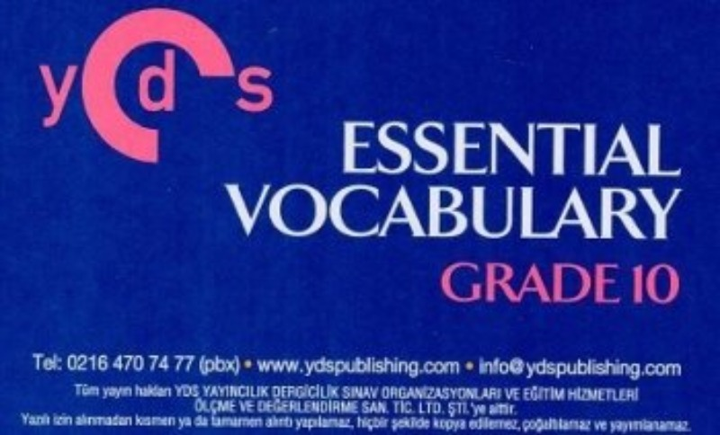 Ydspuplishing YDS Grade 10 ESSENTIAL VOCABULARY