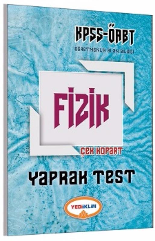 Yediiklim Yayınları 2017 ÖABT Fizik Çek Kopart Yaprak Test