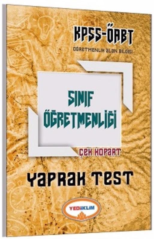 Yediiklim Yayınları 2017 ÖABT Sınıf  Çek Kopart Yaprak Test