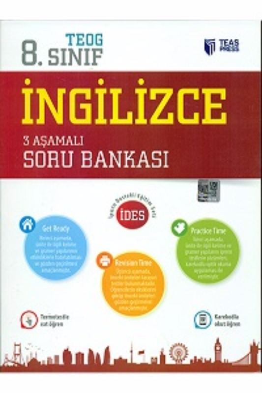 Teas Press Yayınları 8.Sınıf TEOG İngilizce 3 Aşamalı Soru Bankası