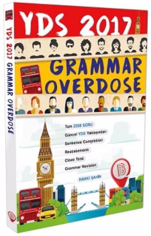 YDS Grammar Overdose Soru Bankası Benim Hocam Yayınları 2017