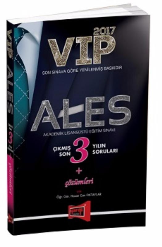 ALES VIP Çıkmış Son 3 Yılın Soruları ve Çözümleri Yargı Yayınları 2017