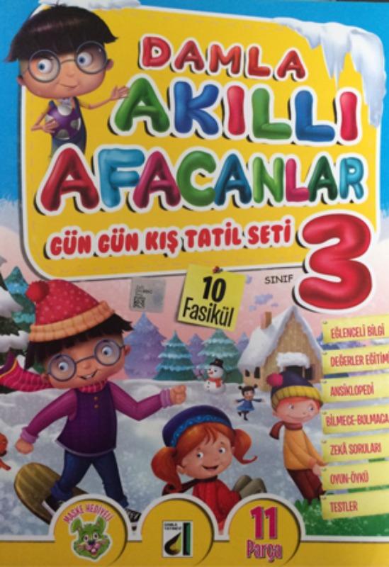Tatil Kitabı Akıllı Afacanlar Gün Gün Kış Tatil Seti Damla Yayınları 3 Sınıf