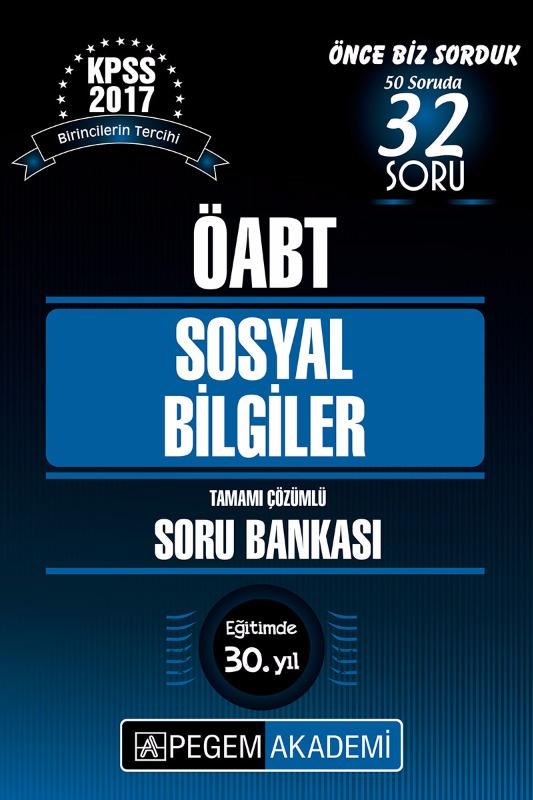 KPSS ÖABT Sosyal Bilgiler Tamamı Çözümlü Soru Bankası Seti 2017 Pegem Yayınları