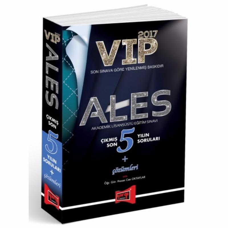ALES VIP Çıkmış Son 5 Yılın Soruları + Çözümleri Yargı Yayınları 2017