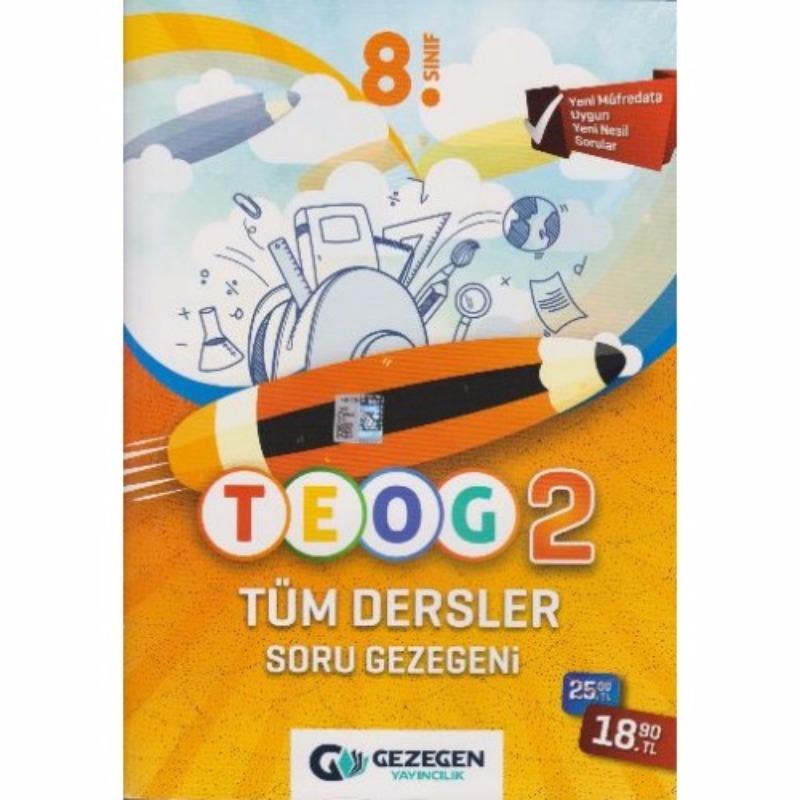 Gezegen Yayınları 8. Sınıf TEOG 2 Tüm Dersler Soru Bankası