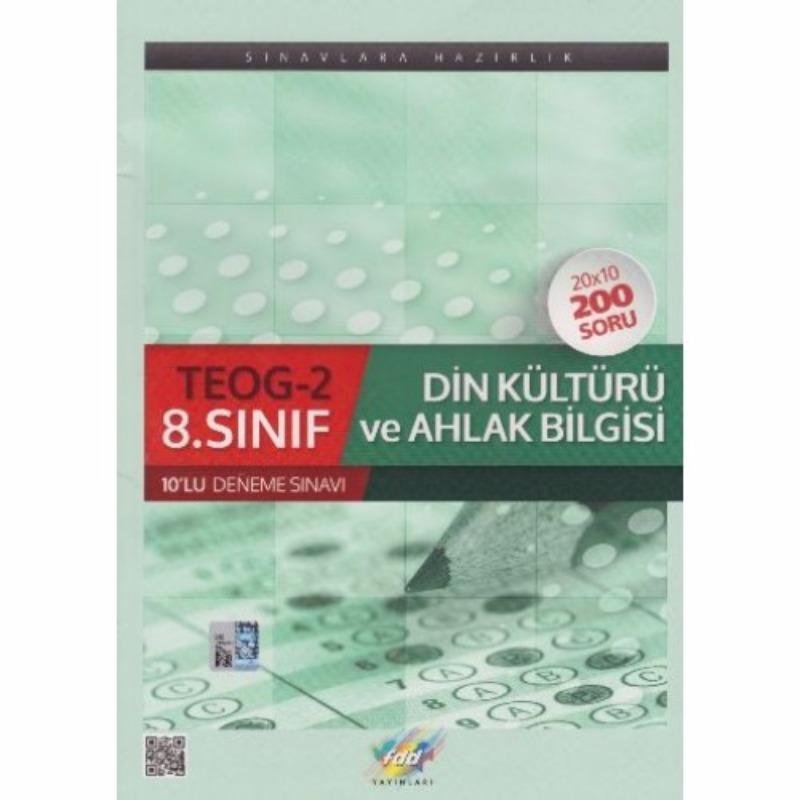 FDD Yayınları 8. Sınıf Din Kültürü ve Ahlak Bilgisi TEOG 2 10 lu Deneme Sınavı