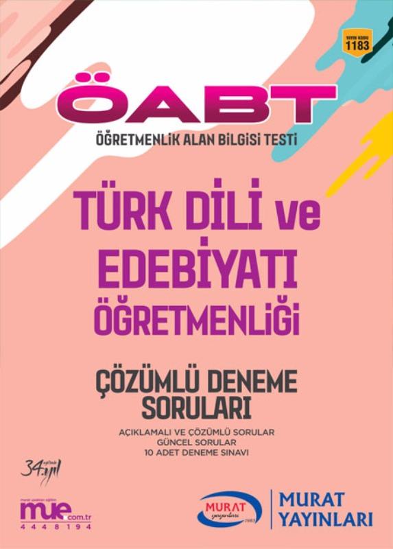 ÖABT Türk Dili ve Edebiyatı  Çözümlü 10 Deneme Soruları Murat Yayınları 2017