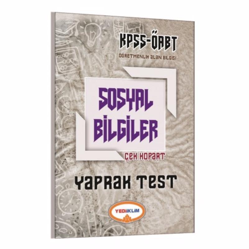 Yediiklim Yayınları 2017 ÖABT Sosyal Bilgiler Çek Kopart Yaprak Test