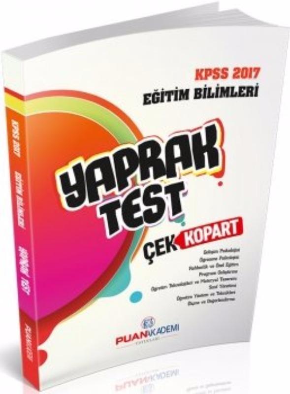 Puan Akademi 2017 KPSS Eğitim Bilimleri Yaprak Test Çek Kopart