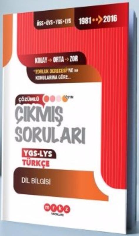 Merkez Yayınları YGS LYS Türkçe Dilbilgisi Çözümlü Çıkmış Sorular 1981 - 2016
