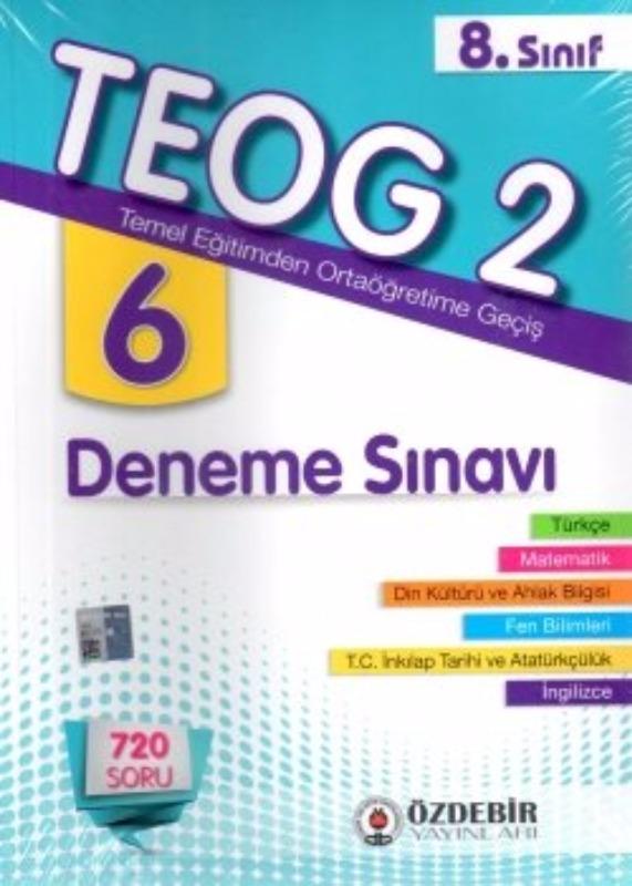 Özdebir Yayınları 8. Sınıf TEOG 2 6 Deneme Sınavı