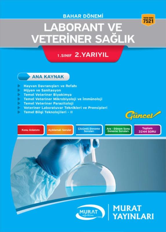 Murat Açıköğretim Yayınları Laborant ve Veteriner Sağlık 1.Sınıf 2.Yarıl