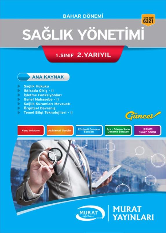 Sağlık Yönetimi 1. Sınıf 2. Yarıyıl Bahar Dönemi Murat Yayınları