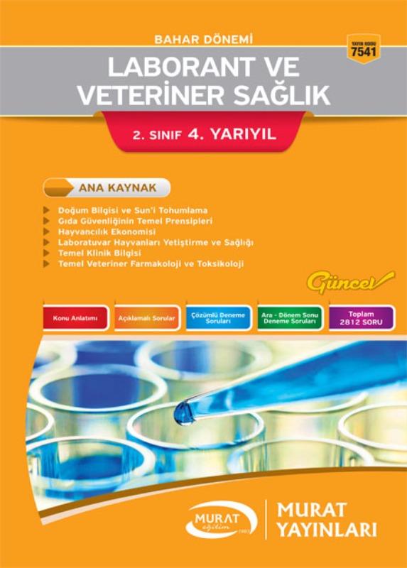 Murat Açıköğretim Yayınları Laborantve Veteriner Sağlık 2.Sınıf 4.Yarıyıl