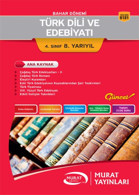 Türk Dili ve Edebiyatı 4. Sınıf 8. Yarıyıl Murat Yayınları Bahar Dönemi