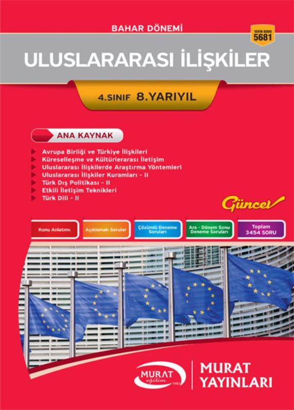 Uluslararası İlişkiler 4. Sınıf 8. Yarıyıl Murat Yayınları Bahar Dönemi