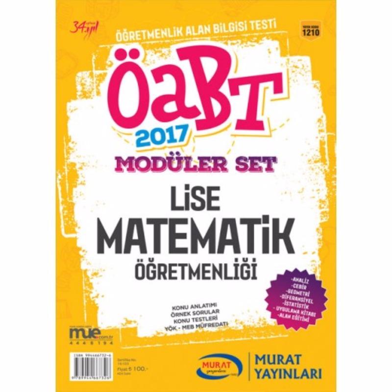 ÖABT Lise Matematik Konu Anlatımlı Modüler Set Murat Yayınları 2017