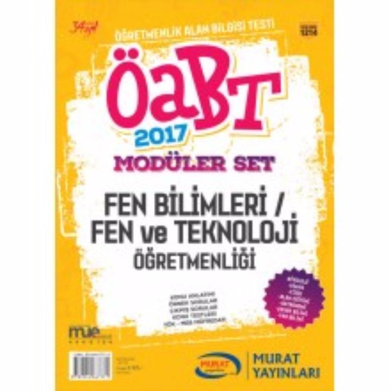 ÖABT Fen Bilimleri Fen ve Teknoloji Konu Anlatımlı Modüler Set Murat Yayınları 2017