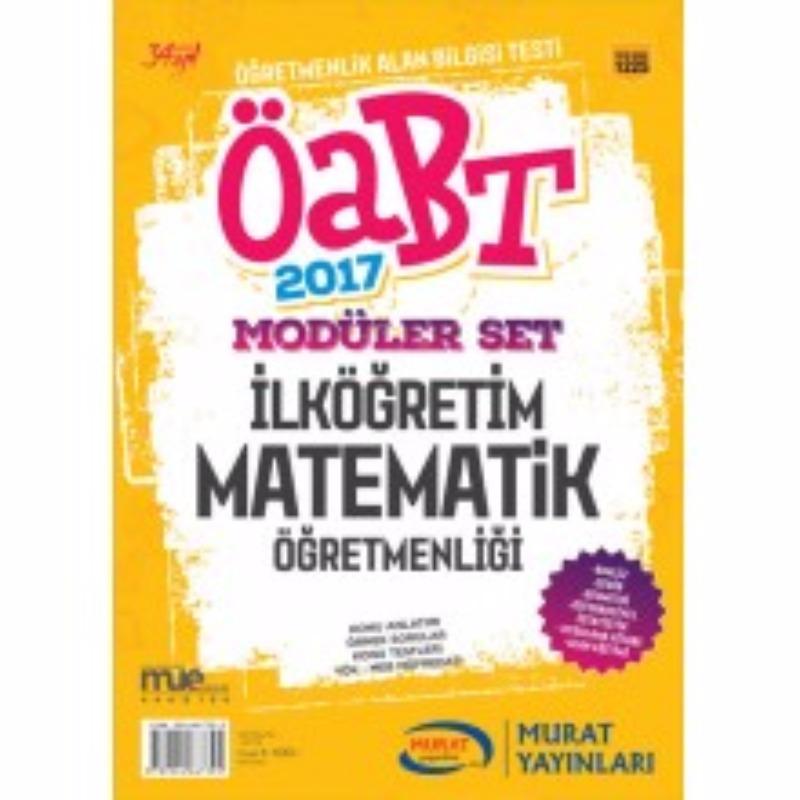 ÖABT İlköğretim Matematik Konu Anlatımlı Modüler Set Murat Yayınları 2017